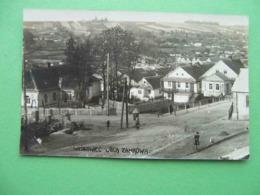 VISHNEVETS West Ukraine, Poland 1920x Zamkova Street. Photo Postcard. - Ukraine