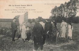 Militaire Guerre 1914 1918 Bataille De L' Ourcq Tombes Dans Les Champs Près De Barcy Correspondance 1916 - War 1914-18