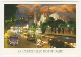 {80938} 75 Paris , Le Quai De Montebello Et La Cathédrale Notre Dame - Notre Dame De Paris