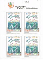 34395. Hojita 4 Viñetas 73 VOLTA Ciclista Catalunya 1993. Dentada ** - Errors & Oddities