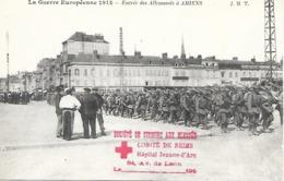 51- Cachet Comité De Reims- Hôpital Jeanne D'Arc Sur CP D'Amiens En 1914 - CP Neuve- Dos Vierge- Cachet Rare - Guerra De 1914-18