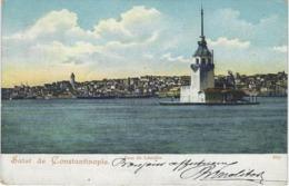 SALUT DE CONSTANTINOPLE, TOUR DE LEANDRE,  , Stamp & Stamping :LEVANT POSTES FRANCAISES - Turkey
