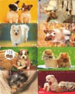 LOTE DE 8 TARJETAS TELEFONICAS DE JAPON. (PERROS - DOGS - CHIENS) (186) - Perros