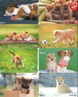 LOTE DE 8 TARJETAS TELEFONICAS DE JAPON. (PERROS - DOGS - CHIENS) (187) - Perros