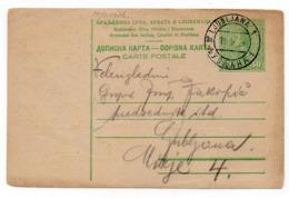 1926 YUGOSLAVIA, SLOVENIA, LJUBLJANA, LOCAL STATIONERY CARD, USED - Entiers Postaux