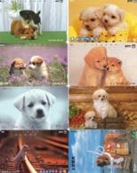 LOTE DE 8 TARJETAS TELEFONICAS DE JAPON. (PERROS - DOGS - CHIENS) (189) - Perros