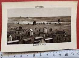 BELGIQUE OSTENDE BAINS PLAGE 1880 LITHO GRAVURES CHROMO IMAGE PUBLICITÉ MAZOYER & BALME LYON PARIS - Andere