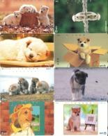 LOTE DE 8 TARJETAS TELEFONICAS DE JAPON. (PERROS - DOGS - CHIENS) (192) - Perros