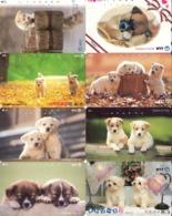 LOTE DE 8 TARJETAS TELEFONICAS DE JAPON. (PERROS - DOGS - CHIENS) (193) - Perros