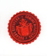 MONTENEGRO, KOTOR, COMUNE DI CATTARO, POSTER STAMP, BEFORE WWI, DIAMETER 3.5 Cm - Montenegro