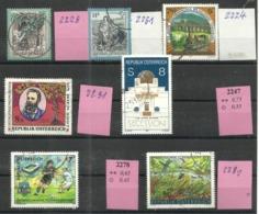 """Österreich 2228,2224,2231,2228,2247,2278,2288 """"7 Briefmarken A.Jahrgang 1997-99"""" Gestempelt. Mi.:4,10 - 1945-.... 2ème République"""