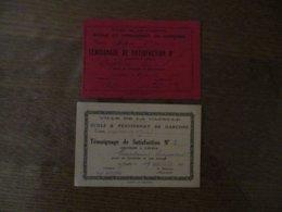 VILLE DE LA CAPELLE ECOLE ET PENSIONNAT DE GARCONS TEMOIGNAGES DE SATISFACTION 1930 ET 1932 L'INSTITUT. PAUL BOUTHORS LE - Diplomas Y Calificaciones Escolares