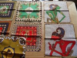 Série De 9  Serviettes Indonésiennes En  Batik Keris - Mouchoirs