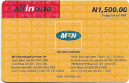 Nigeria - MTN - All In One, Pay As You Go (Small Logo), 1.500₦, Used - Nigeria
