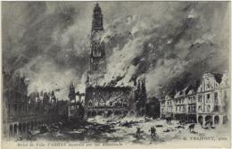 62  Arras  Hotel De Ville Incendie - Arras