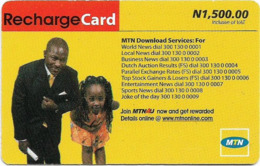 Nigeria - MTN - Recharge Card, Father & Daughter (Type 2), 1.500₦, Used - Nigeria