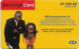 Nigeria - MTN - Recharge Card, Father & Daughter (Type 3), 1.500₦, Used - Nigeria