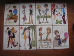 Lot De 28 Jolies Cartes ( Années 70 ) COUPLE - Femme Fille - Fête Sainte Catherine ( Spécial - à Voir ) Koppel Mesjes - Couples