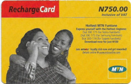 Nigeria - MTN - Recharge Card, Mother & Daughter (Type 1), 750₦, Used - Nigeria