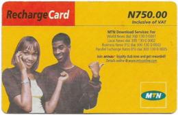 Nigeria - MTN - Recharge Card, Woman & Man, 750₦, Used - Nigeria