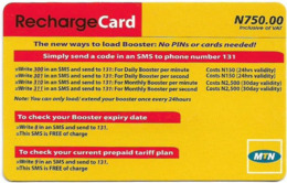 Nigeria - MTN - Recharge Card, Ways To Load Booster (Type 2), 750₦, Used - Nigeria