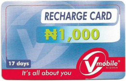 Nigeria - Vmobile - Recharge Card, Prepaid 1.000₦, Used - Nigeria