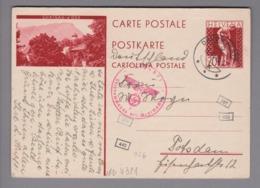 Schweiz GS Bildpostkarte Zu#126.009 (PK128) Chateau-d'Oex Stempel Davos-Platz 1942-06-11 Zensur - Postwaardestukken