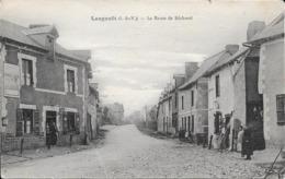 Langouet - Route De Becherel - Voir Verso Timbre Pour Collé Pour Réparation - En L Etat - Francia