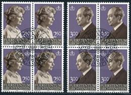Zumstein 767-768 / Michel 828-829 Viererblockserie Mit ET-Zentrumstempel - Used Stamps