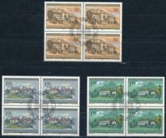 Zumstein 807-809 / Michel 868-870 Viererblockserie Mit ET-Zentrumstempel - Used Stamps