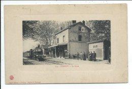 Uchisy La Gare ,train,locomotive à Vapeur - Autres Communes