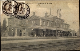 Cp Gembloux Wallonien Namur, L'intérieur De La Gare, Bahnhof, Gleisseite - Eisenbahnen