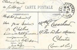 51-Lot De 11 Cachets D'Hôpitaux De La Marne (9 Sur CP+ 2 Sur Lettres) En 14/18 - Guerra De 1914-18