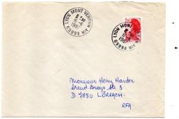 Base Aérienne De Lyon Mont Verdun - Cachet Rond Air - Poststempel (Briefe)