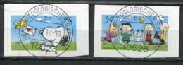 """Germany 2018 Mi .Nr .3371/72 Selbstkleber Aus Folienbogen """"Comics-Die Peanuts,Snoopy"""" 2 Werte Used - Used Stamps"""