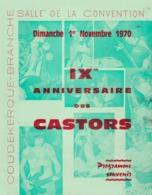 Coudekerque Branche  ( Dunkerque ) 1970 Show Des Castors Groupe Mythique De Rock'n'roll Des Années Yé-yé - Programs