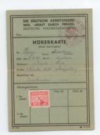 MARCOPHILIE MILITARIA 1943 CACHET ALLEMAND AIGLE DEUTSCHE ARBEITFRONT TIMBRES BE - 1939-45