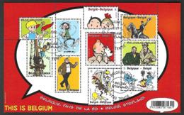 OCB Nr 4258/67  BL201 Bloc 201 Strip BD Comic Tintin Kuifje Schtroumpf Smurf Jommeke Nero Blake & Mortimer ..Temse - Belgique