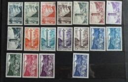 Andorre - Timbres Des Années 1955 à 1958 Nos 138 à 153 (sauf 152B) N** MNH - Full Years
