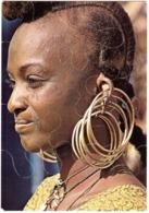 CPA AFRIQUE. MAURITANIE.FEMME PEUHL.CARTE PUZZLE - Mauritanie