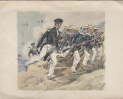 Militaria - Guerre - Charge Fusilliers Marins - Marine Française - Illustrateur - Carte 2 Volets - Regimientos