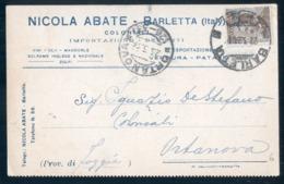 BARLETTA - 1926 - CARTOLINA COMMERCIALE - ABATE COLONIALI - Barletta