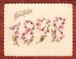 Visitenkarte, Praegekarte, Glueckliches 1898, Blueten (81538) - Visitenkarten
