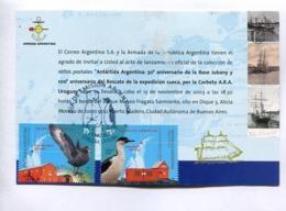 ARMADA ARGENTINA, INVITACIÓN LANZAMIENTO SELLO - TARJETA POSTAL FDC 2007 LA PLATA -LILHU - Filatelia Polar