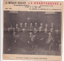 """La Mutualité Socialiste """"L'Avantageuse"""" à Courcelles - Collections"""