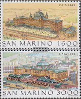 San Marino 1402-1403 (complete Issue) Unmounted Mint / Never Hinged 1988 The Hague - San Marino