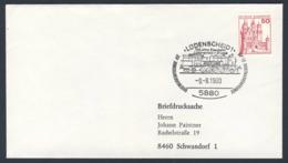 Deutschland Germany 1980 Brief Cover - 100 Jahre Eisenbahn Lüdenscheid - Brügge - Ausstellung / Railway - Exhibition - Treinen