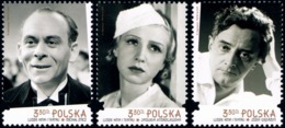 Poland 2019 Fi 5016-5018 Mi 5166-5168 People Of Cinemas And Theater - Nuevos