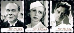 Poland 2019 Fi 5016-5018 Mi 5166-5168 People Of Cinemas And Theater - 1944-.... República
