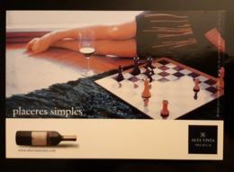 Alts Vista Wine Chess Carte Postale - Publicité
